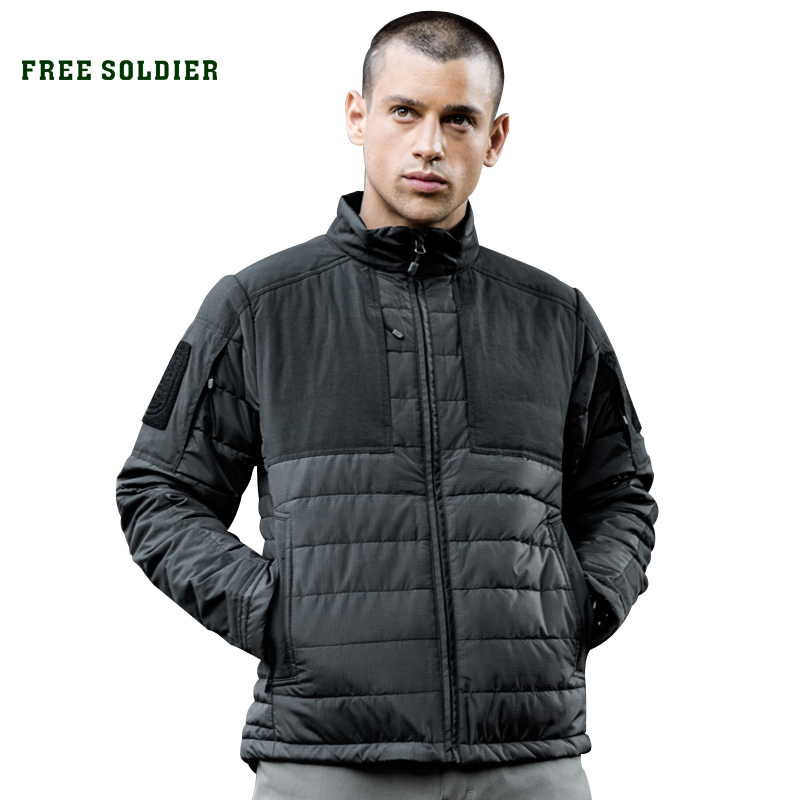 FREE SOLDIER Outdoor sports camping hiking  tactical jacket, heat retaining anti spot  wear resistant jacket / coat-in  Camping & Hiking Down from Sports & Entertainment    1