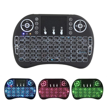 2.4G i8 Mini Wireless Keyboard Russian Spanish LED Backlit Air Mouse With Touchpad For Smart TV Google Android TV Box PC PS3/PS4 Keyboards