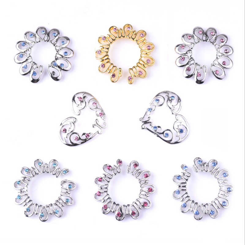 Hot Sale Non Pierced Clip On Fake Nipple Ring Flowers Shield Cover Clamps Fashion Heart Nipple Ring Piercing Sexy Body Jewelry
