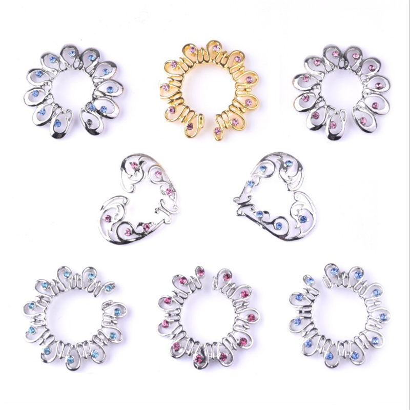 Hot Sale Non Pierced Clip On Fake Nipple Ring Flowers Shield Cover Clamps Fashion -7036