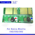 Тонер-картридж для Konica Minolta Bizhub C450 452 C552 C652  микросхема для копировального аппарата  4 шт./компл.  запасные части C 450 452 552