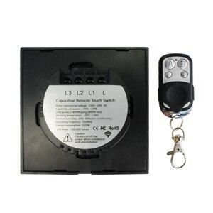 Image 4 - EU 標準 VHOME スマートタッチスイッチ 2 ギャング 1 ウェイ、ホワイトクリスタルガラススイッチパネルセンサーワイヤレス RF433Mhz リモート