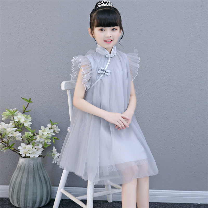 2018 Summer New Children Girls Elegant Birthday Evening Party Princess Lace Short Dress Baby Kids Piano Pageant Host Dress Wear grace karin short evening dress cloak cape drape tunic formal celebrity elegant evening party sheath bodycon pencil dress summer