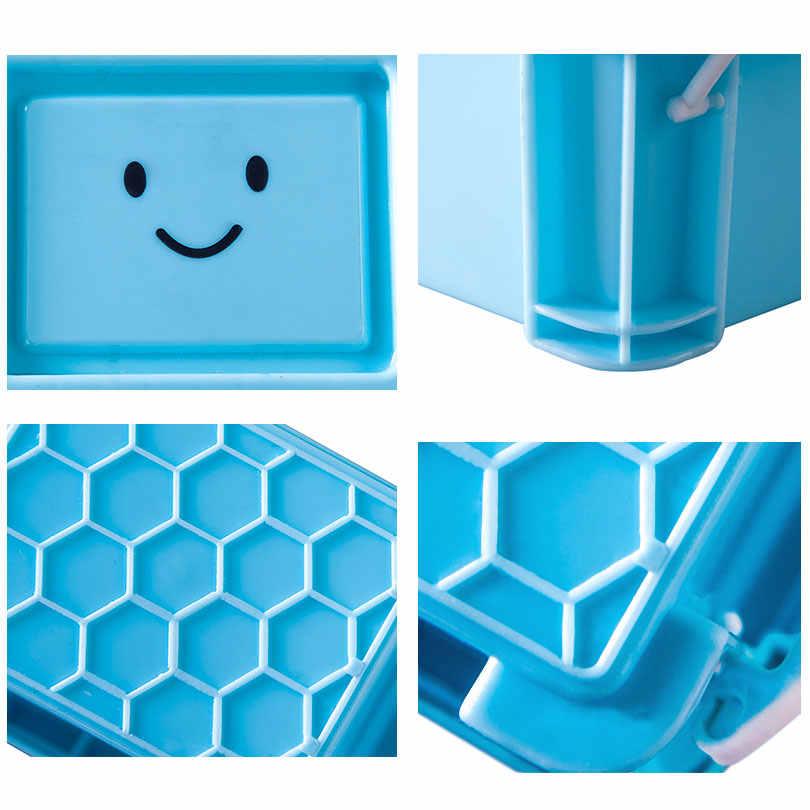 Настольная коробка для хранения инновационная мини-коробка для хранения смайликов с крышкой пластиковая коробка для ювелирных изделий чистый цвет прекрасная отделочная коробка EGL272