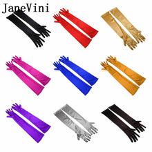Белые черные атласные свадебные перчатки jaevini 21 дюйм Длинные