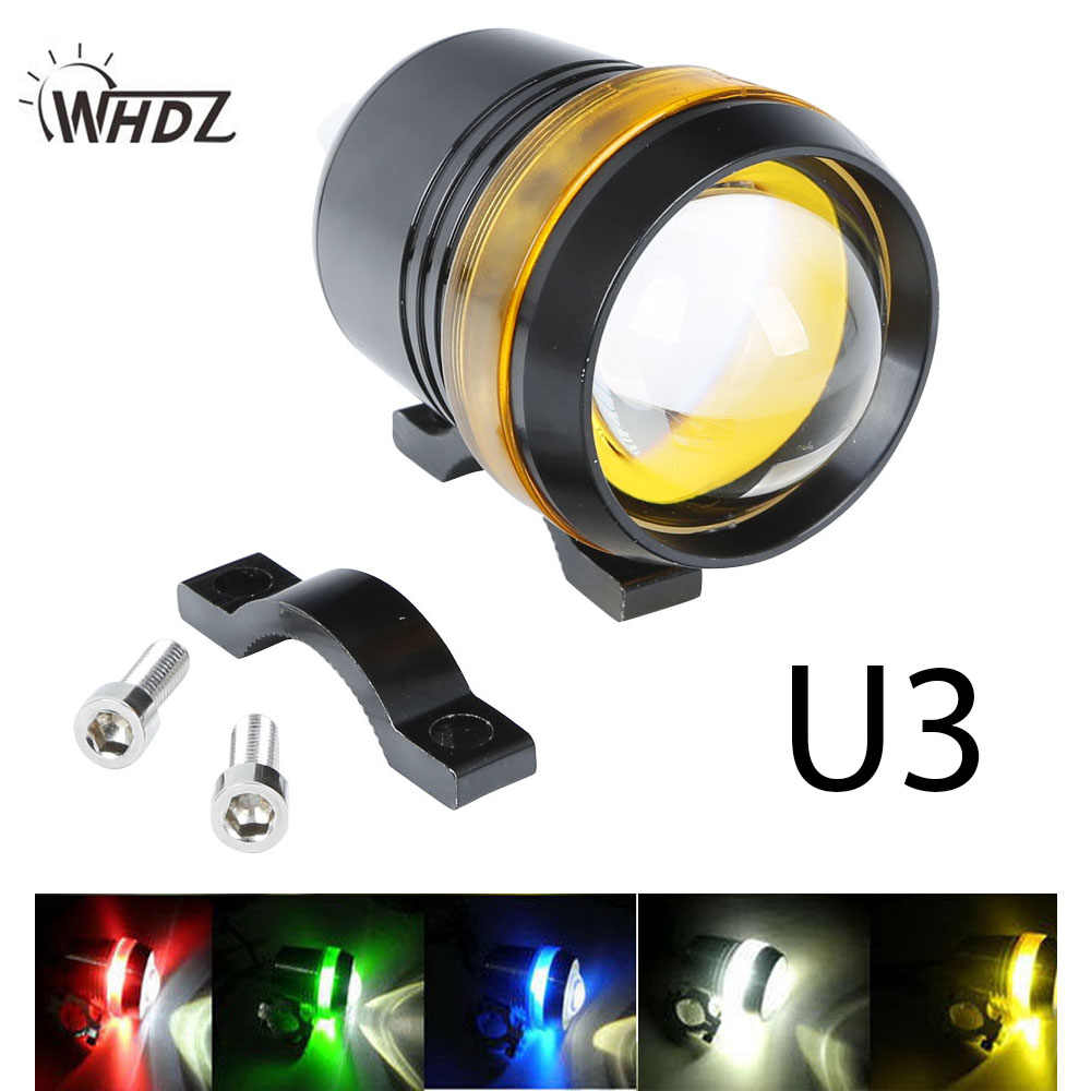 WHDZ 12V 30W Motorcycle U3 LED Driving Fog Spot Head light Angel Eye Lamp u3 motorcycle light
