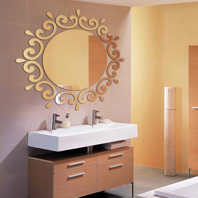 2015 Hot Acrylic 3d Wall Stickers Large Mirror Sticker Vintage Home Decor  Vinilos Paredes Diy Modern Wall Art In Wall Stickers From Home U0026 Garden On  ...