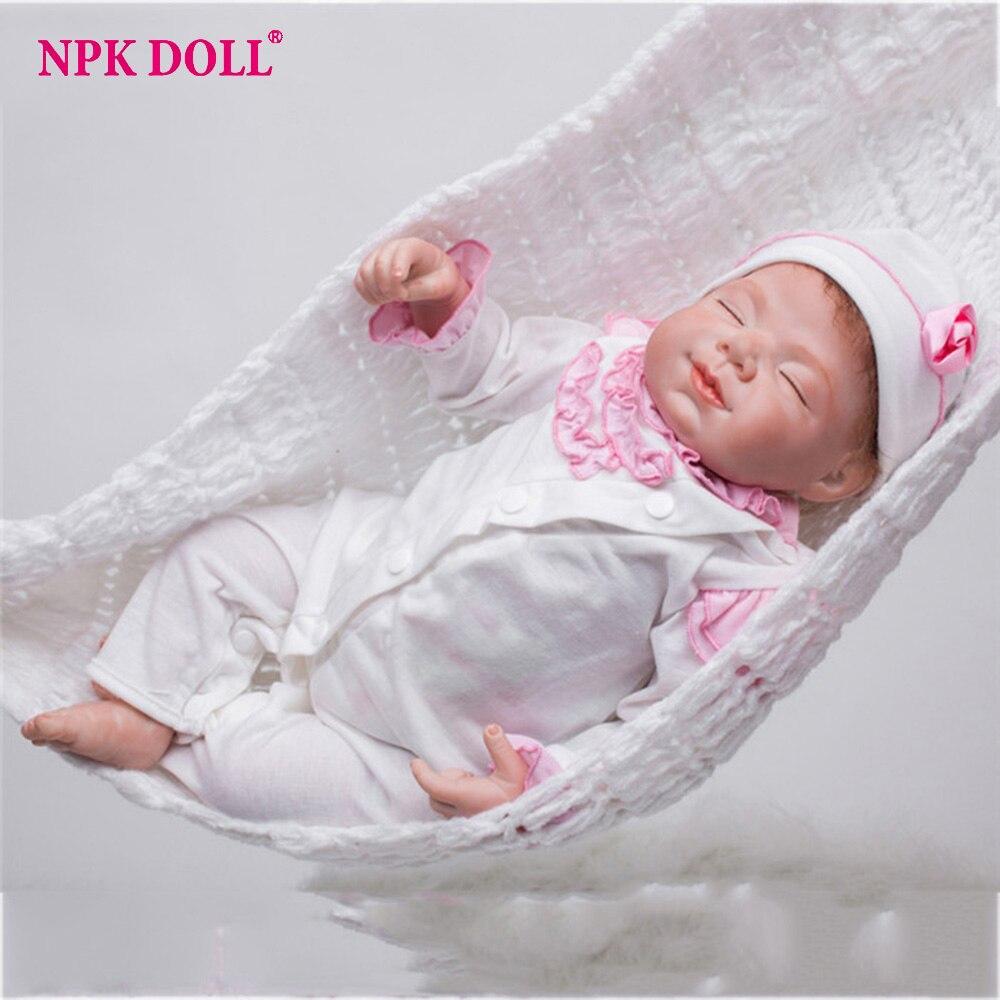 55 cm Silicone vinyle Reborn bébé fille poupée réaliste doux W vêtements 22