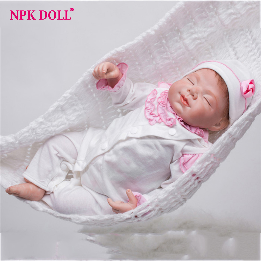 55cm Silicone Vinyl Reborn Baby Girl Doll Lifelike Soft W Clothes 22 Newborn babies Doll Reborn Brithday Gift Kids Brinquedos 50cm soft body silicone reborn baby doll toy lifelike baby reborn sleeping newborn boy doll kids birthday gift girl brinquedos