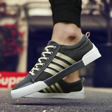 2018 New Spring Summer Men Shoe Breathable Casual Shoes Mens Canvas Shoes for Lace-Up Brand Fashion Flat Male Shoe