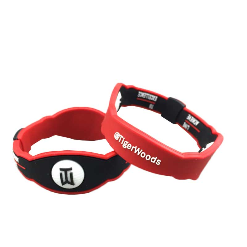 18-20 Cm Golf Silicone Black Red T Woods Energy Radiation Protect Bracelet Golf Wristband Golf Training Aids Accessories