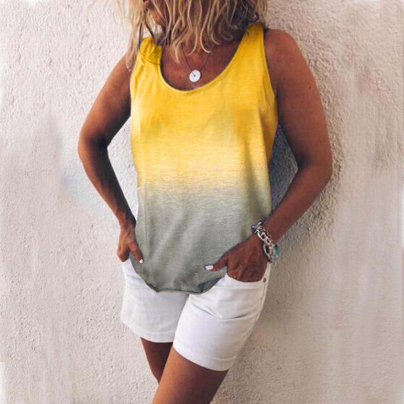Women 39 s new rainbow gradient print vest in Tank Tops from Women 39 s Clothing