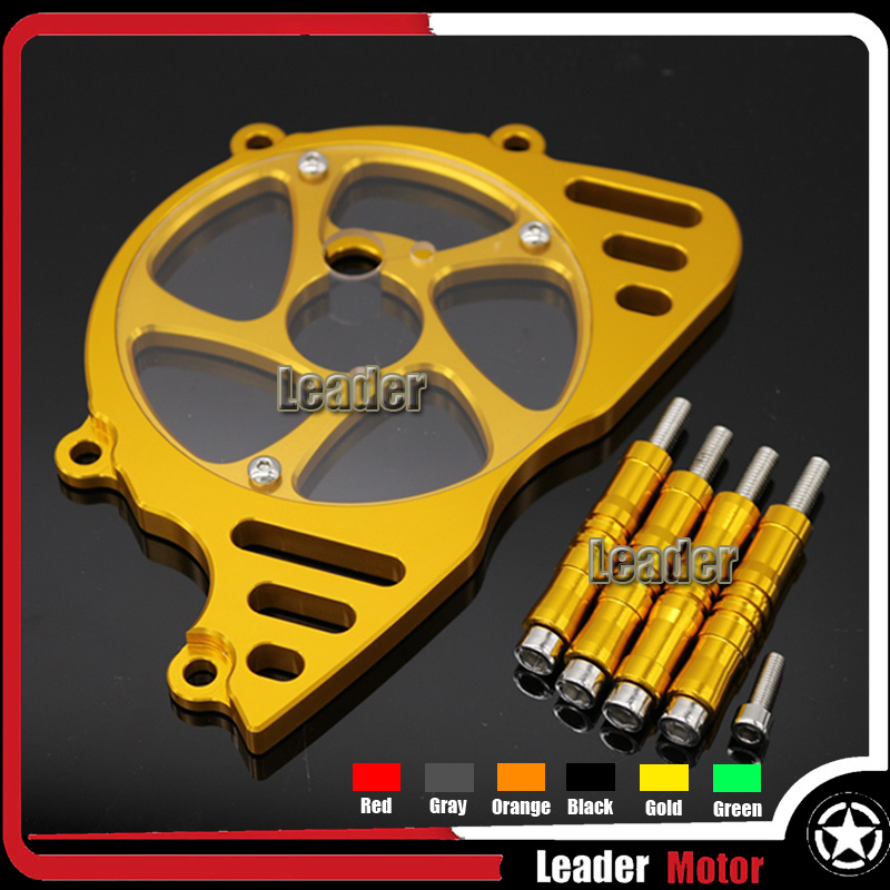 For KAWASAKI Z1000 2010-2016 Motorcycle Accessories Aluminum Front Sprocket Chain Guard Cover Left Side Engine Six Colors rubing matching motorcycle accessories ybr125k end cover assembly on the left side of ash