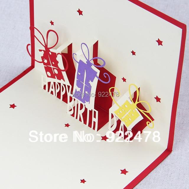 3d Stereoscopic Surprise Gift Diy Handmade Birthday Cards 10pcslot