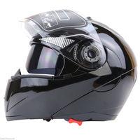Free Shipping 1pcs Unisex Full Face Motorcycle Helmet Dual Visor Street Bike Transparent Shield