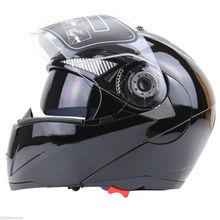 Free shipping 1pcs Unisex Full Face Motorcycle Helmet Dual Visor Street Bike + Transparent Shield