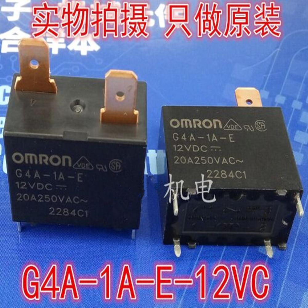 G4A-1A-E 12VDC 20A 250VAC OMRO N RELAY 1 From A  New and original 5pcs/lot