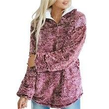 Coat Winter Sweater Fluffy