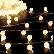 Novelty lighting 5M 30LED white string lamps wire Christmas Lights fairy Home wedding garden pendant garland
