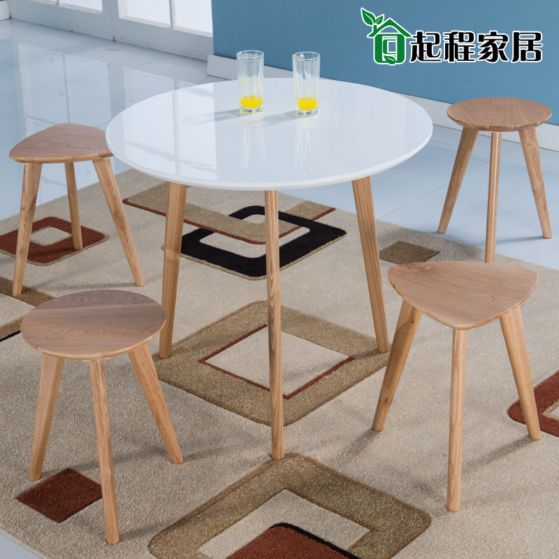 Japanese Nordic Round Table Round Table Small Apartment Minimalist Ikea  Wood Table And White Piano Lacquer Round Table In Dining Tables From  Furniture On ...