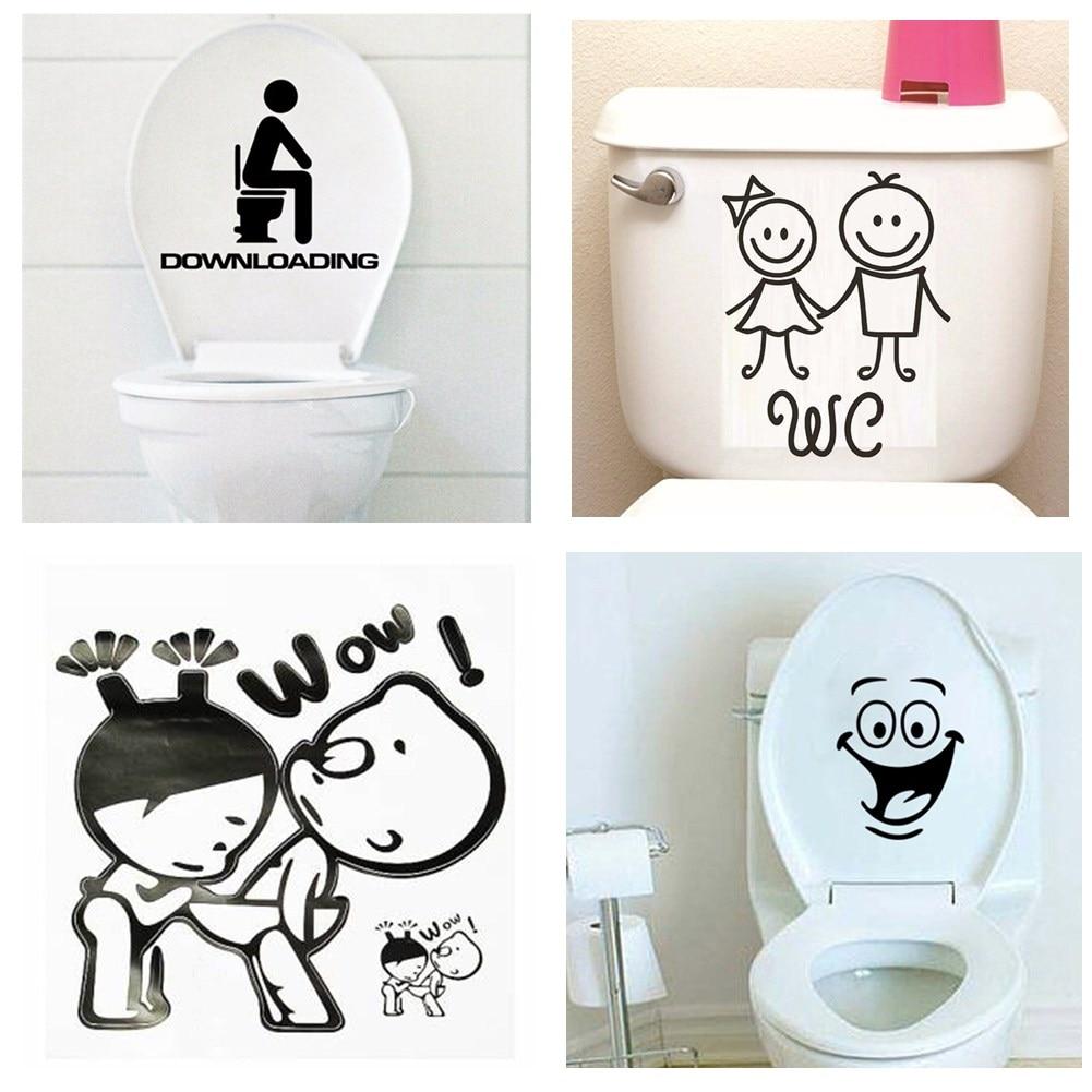 NEW Letter DOWNLOADING waterproof bathroom toilet sticker door glass stickers wall decal home decoration vinyl art pvc posters