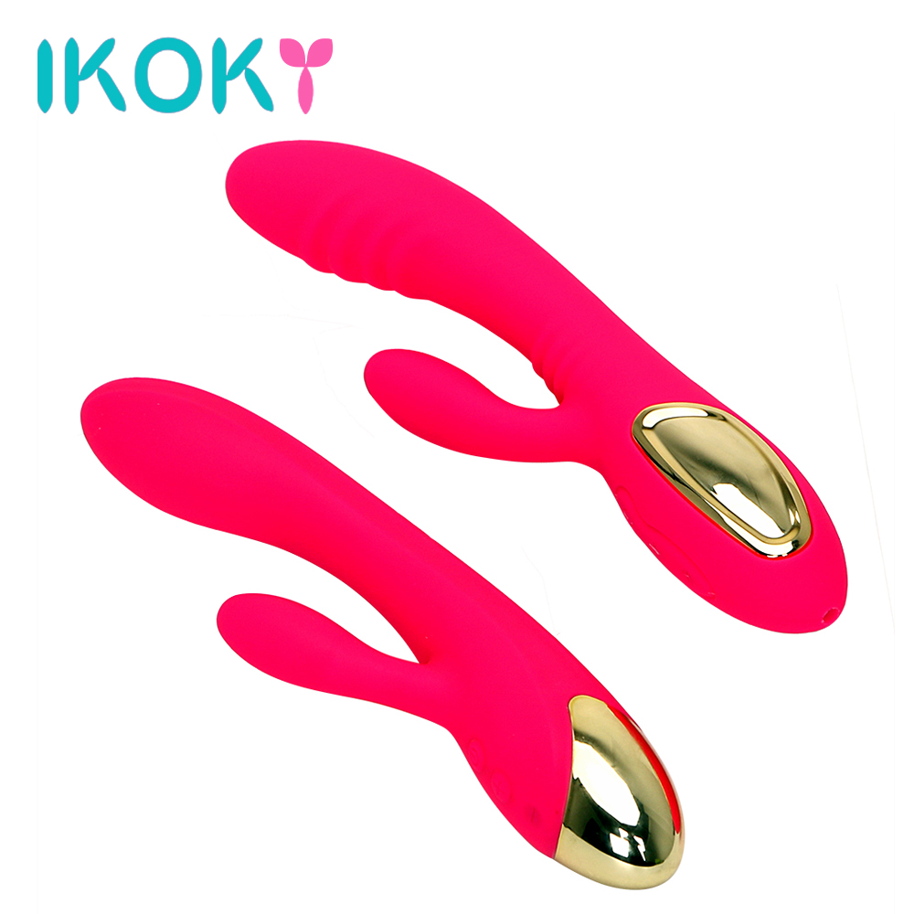 IKOKY Rechargeable Dual Vibrator G Spot Massage Strong Vibration Sex Toys for Women Female Masturbator Adult ProductsIKOKY Rechargeable Dual Vibrator G Spot Massage Strong Vibration Sex Toys for Women Female Masturbator Adult Products