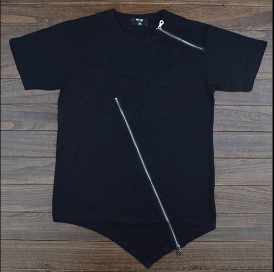 Kanye West Zipper Tee Black White Dress T Shirt Homme Et Femme Coco