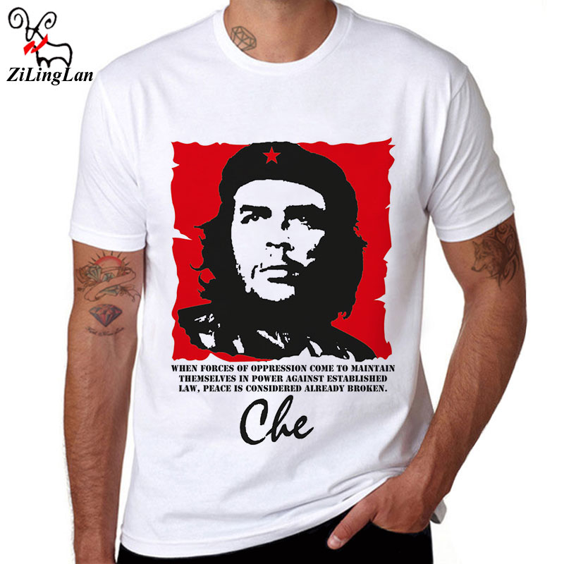 ZiLingLan Cuba People Hero Che Guevara T shirt Tops Tees