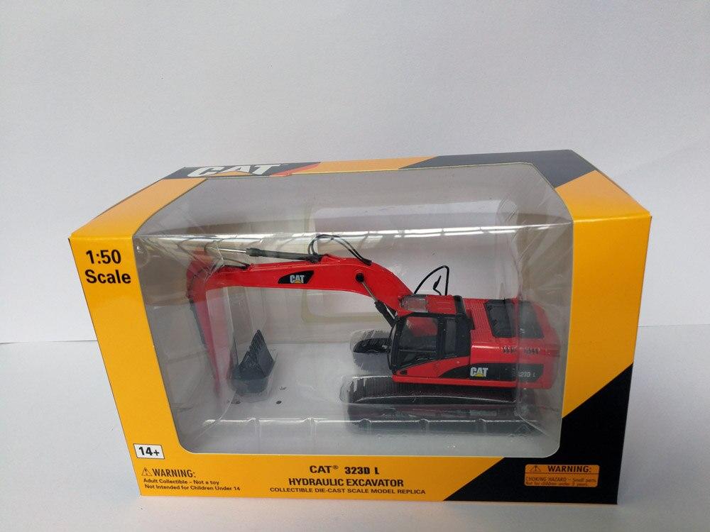 1:50 CAT323D гидравлический экскаватор с красными игрушками