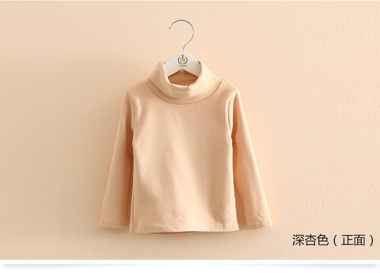 2018 Spring Autumn 2-10T Years Children'S Candy Color Sweet Long Sleeve High Neck Unisex Kids Girl Boy Basic Turtleneck T-Shirt (17)
