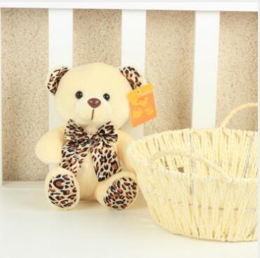 WYZHY couleur mélangée livraison blanc cheveux courts noeud ours poupée créative remplit peluche jouets cadeaux de mariage 20 cm