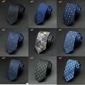 Laços dos homens 2016 Novo Homem Marca de Moda Dot Gravatas Listradas Hombre 6 cm Gravata Fina Gravata Clássico Business Casual Laço Verde Para homens