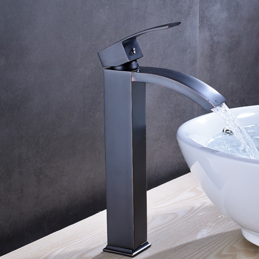 купить Solid Brass Luxury Tall Bathroom Faucet Oil Rubbed Bronze Sink Faucet Mixer Tap NEW по цене 4046.53 рублей