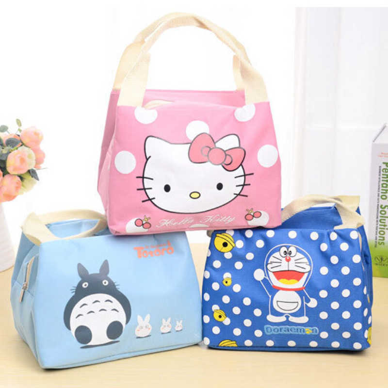 Unikimi Cartoon Cute Insulated lunch Bag Food Picnic Thermal Lunch Bags Portable School Students Box Tote Bags.T-0091