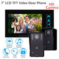 "Free shipping!Door Phone 7"" Wired Video Doorbell Security Visual Monitor HD 2Camera For Home"