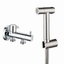 Bidet Spray Toilet Hose Jet-Douche-Kit Diverter Hand-Held Bathroom 304-Stainless-Steel