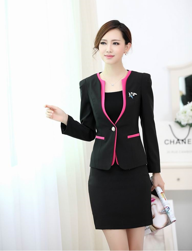 Formal ladies office uniform designs women suits with for Uniform design for spa