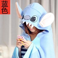 Candice Guo Hot Sale New Style Shawl Dual Purpose Blanket Stitch Style Cloak Good For Gift