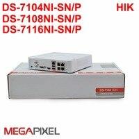 Puro Inglese Firmware Hik POE NVR DS-7104NI-SN/P Incorporato Plug & Play NVR, supportato 2mp macchina fotografica del ip, DHL LIBERA il trasporto