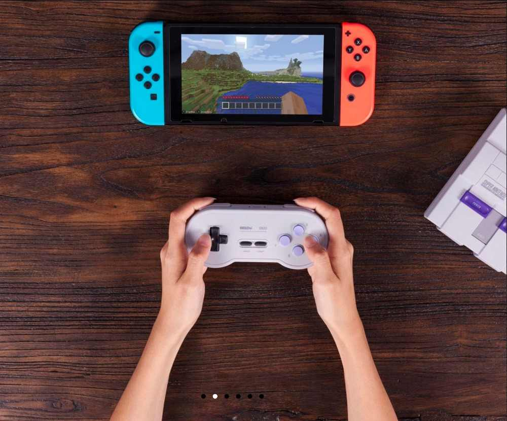 2020 8Bitdo SN30 Gamepad kontroler bezprzewodowy Bluetooth Joystick dla Nintendo przełącznik PC Android systemu MacOS pary