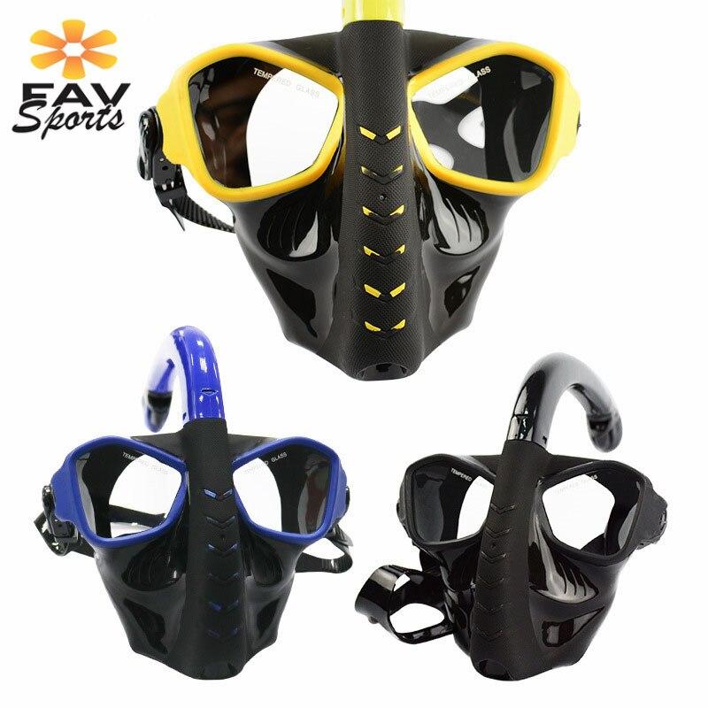 Masque respiratoire sous-marin masque de plongée sous-marine complet masque de plongée Anti-buée masque de plongée pour caméra Gopro