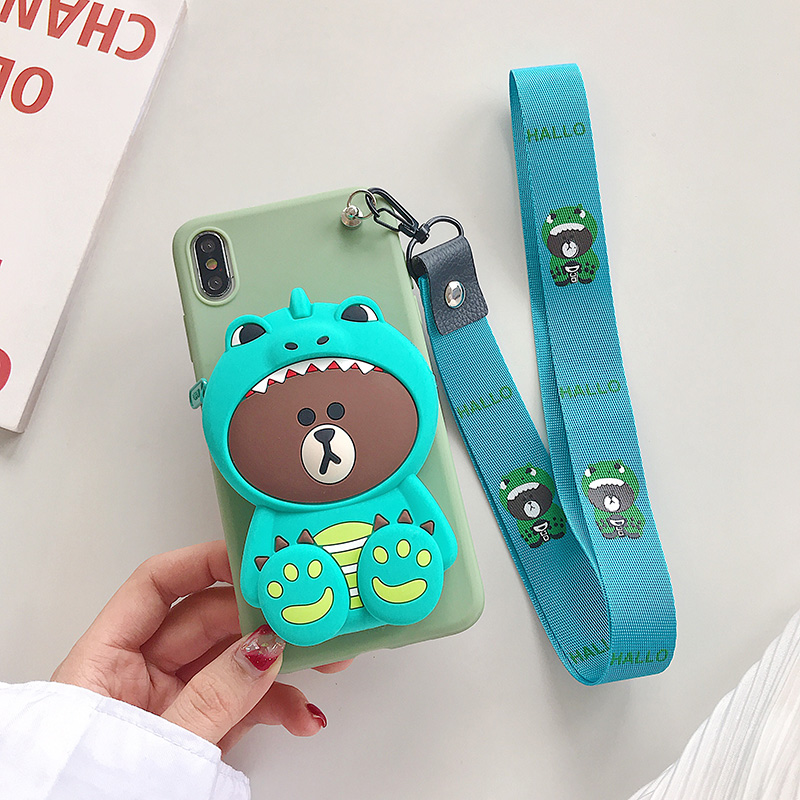 Image 5 - Zipper Wallet Cartoon Phone Case for Huawei Honor 7X 7A 7C 8C 8X Max Play 8A 8 Pro 9 9N View 10 20 Lite 20i Soft Silicone Cover-in Fitted Cases from Cellphones & Telecommunications