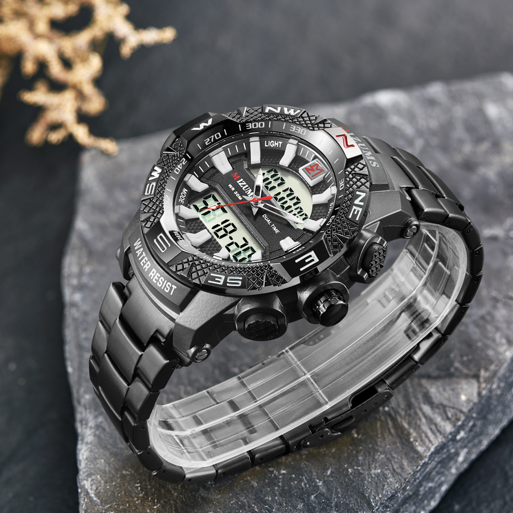 wholesale Military Watches Men Luxury Brand Full Steel Watch Sports Quartz Multi-function LED Waterpoof Gold Wristwatch Relogio Masculino 2019 drop shipping (25)