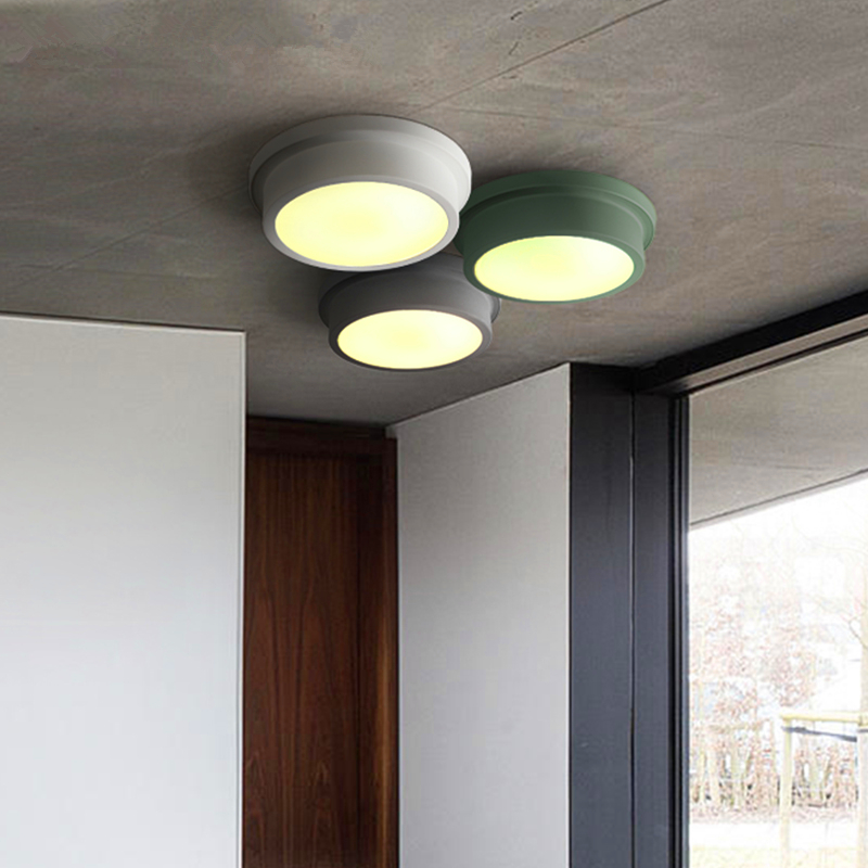 Ceiling lamps balcony round bedroom iron modern simple Ceiling lighting entrance corridor aisle Ceiling lights ceiling lights modern minimalist style iron round led living room ceiling lamp bedroom entrance hall balcony corridor lighting