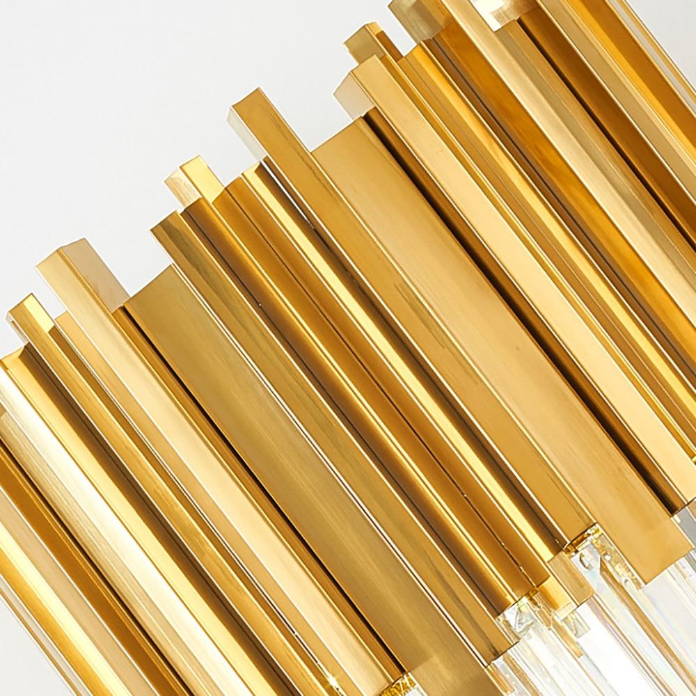 Modern Bedroom Table Lamp Gold Polished Steel Crystal Desk Decor Light fixtures 5