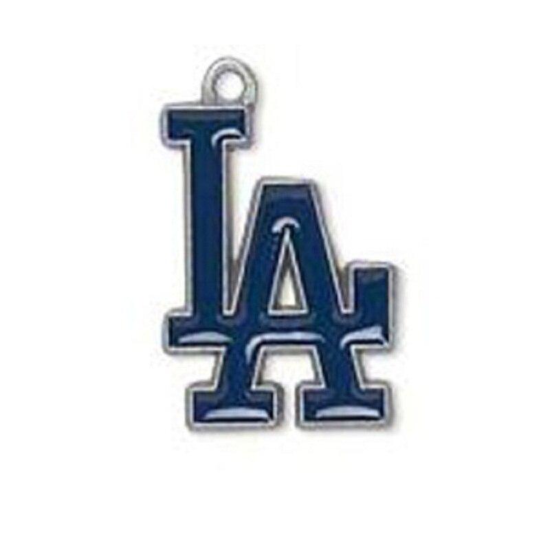 Лидер продаж эмаль Бейсбол команды Los Angeles Dodgers кулон Талисманы для DIY Для женщин Цепочки и ожерелья и браслет и серьги спорт ювелирные издели...