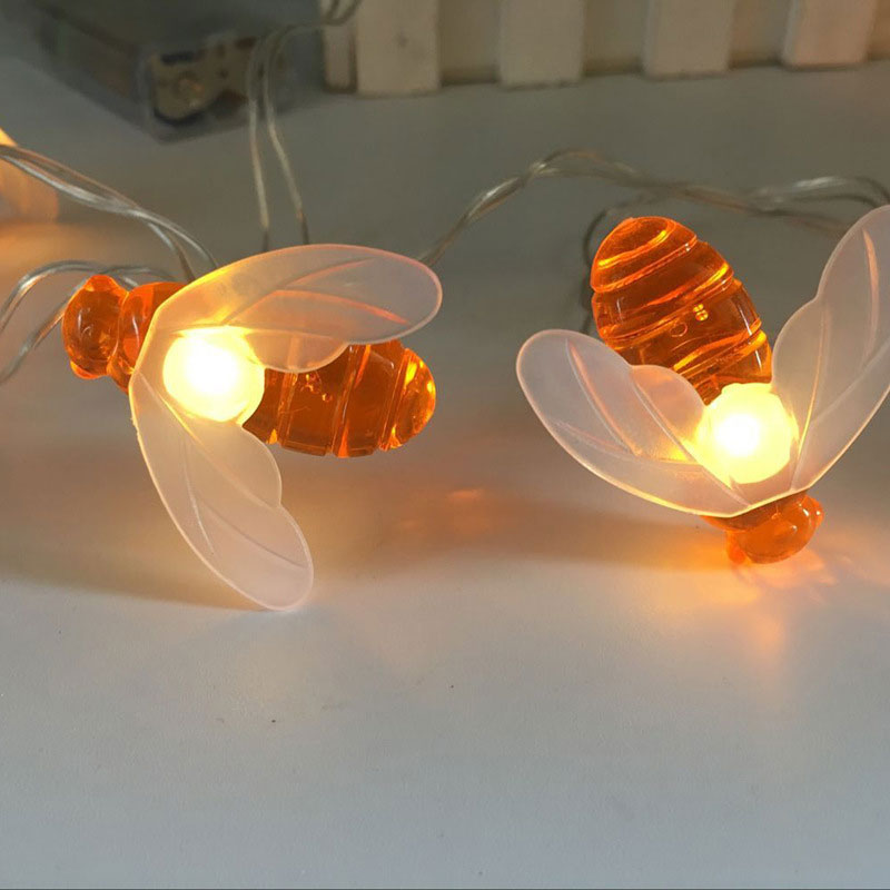LED Bee Festoon String Light Battery Powerd Fairy String Lights For Wedding Ramadan Diwali Christmas Decoration