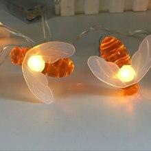 LED Bee Festoon String Light Battery Powerd Fairy Lights for Wedding Ramadan Diwali Christmas Decoration