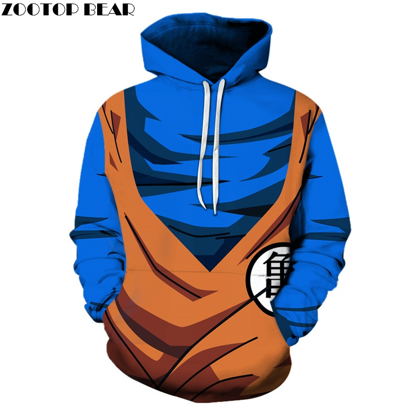 Dragon Ball 3D hoodies Men Women Sweatshirts Goku Hooded Pullover Brand Cosplay Tracksuits Anime Hoodie Fashion Casual Quality