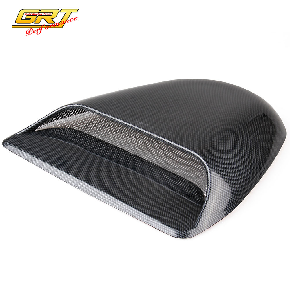 Induction Air Cleaner Hood : Grt universal carbon fiber car decorative air flow intake